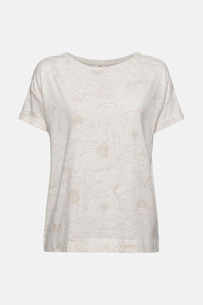 Recycelt: T-Shirt mit Organic Cotton, OFF WHITE, detail image number 6