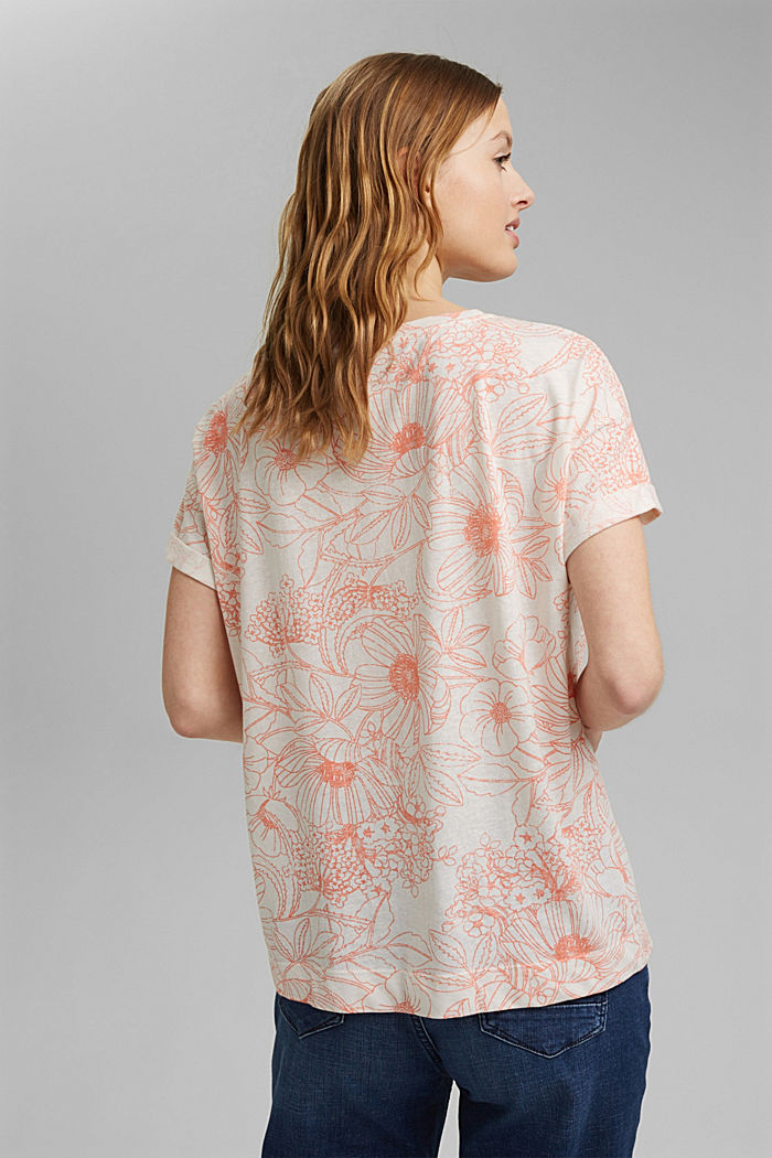 Gerecycled:-shirt met organic cotton, ORANGE, detail image number 3