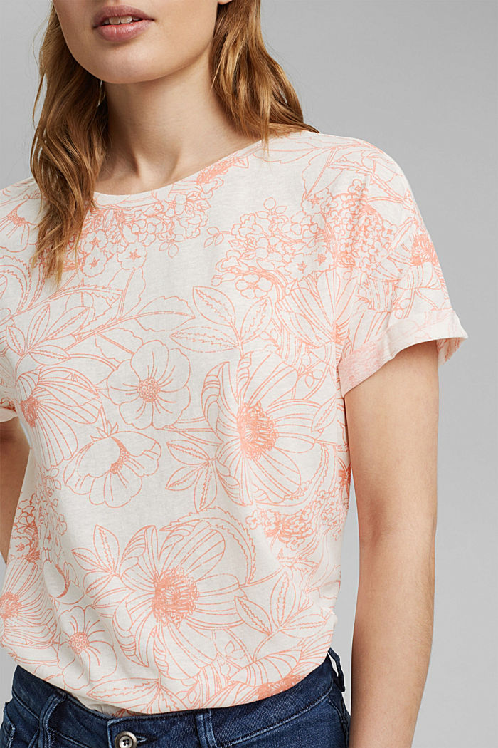 Gerecycled:-shirt met organic cotton, ORANGE, detail image number 2