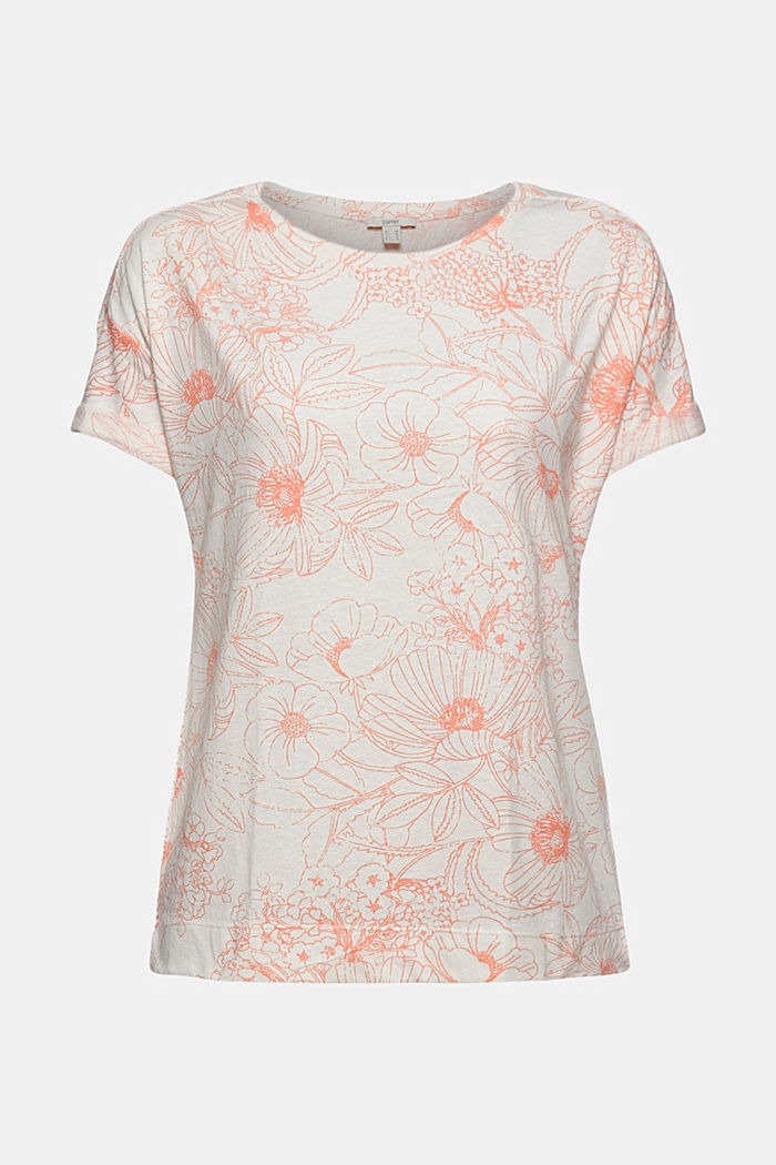 Gerecycled:-shirt met organic cotton, ORANGE, detail image number 6