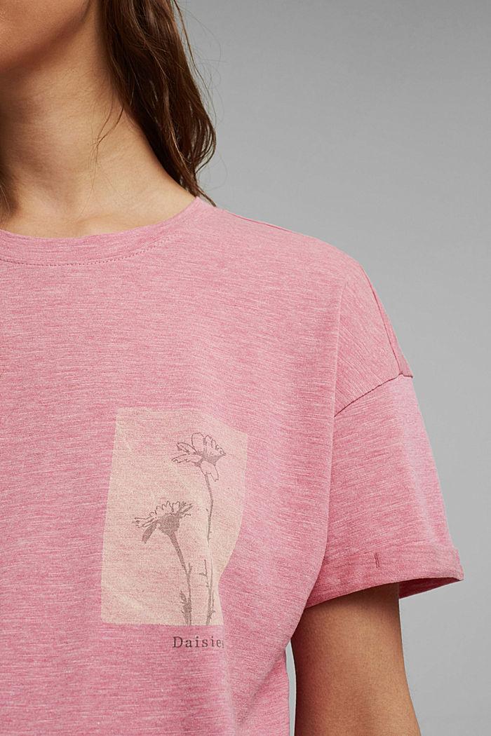 Confeccionada en TENCEL™/algodón ecológico: camiseta suelta, PINK, detail image number 2