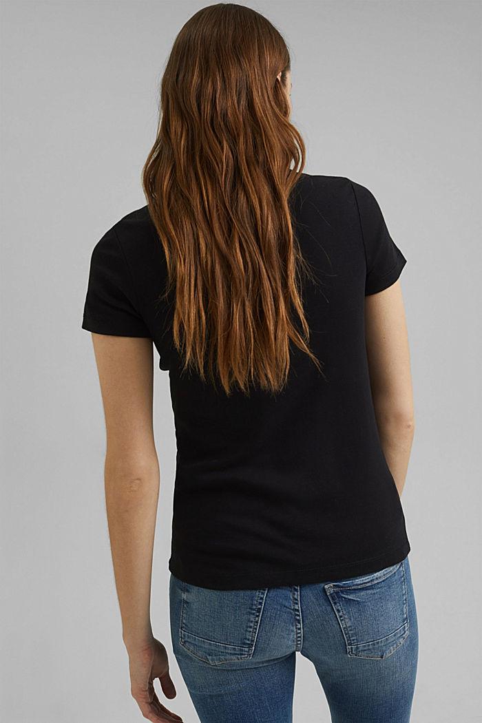 Basic T-shirt made of 100% organic cotton, BLACK, detail image number 3