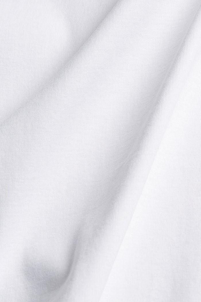 Basic T-shirt made of 100% organic cotton, WHITE, detail image number 4