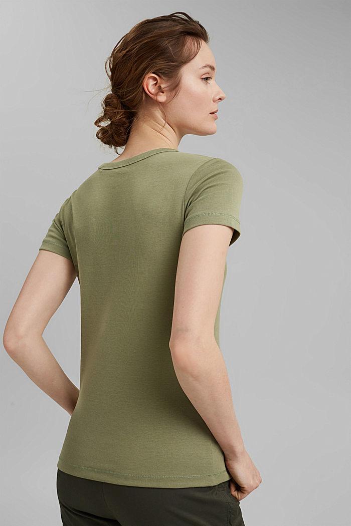 Basic T-shirt made of 100% organic cotton, LIGHT KHAKI, detail image number 3