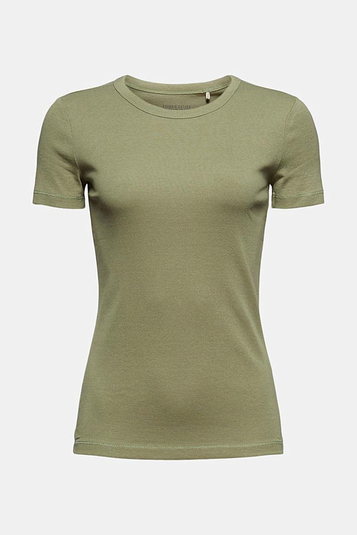 Basic T-shirt made of 100% organic cotton, LIGHT KHAKI, detail image number 5