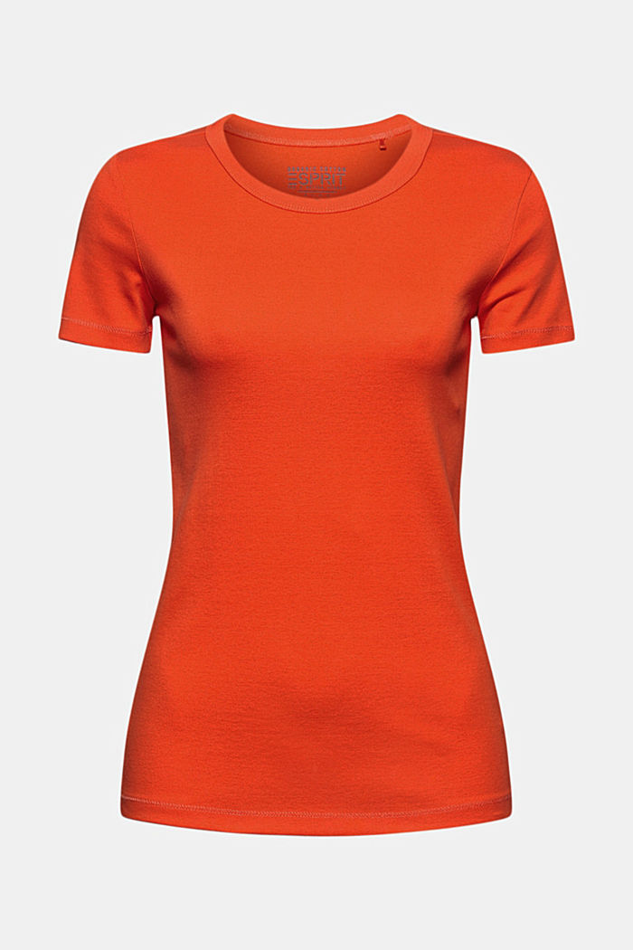 Basic T-shirt made of 100% organic cotton, ORANGE RED, overview