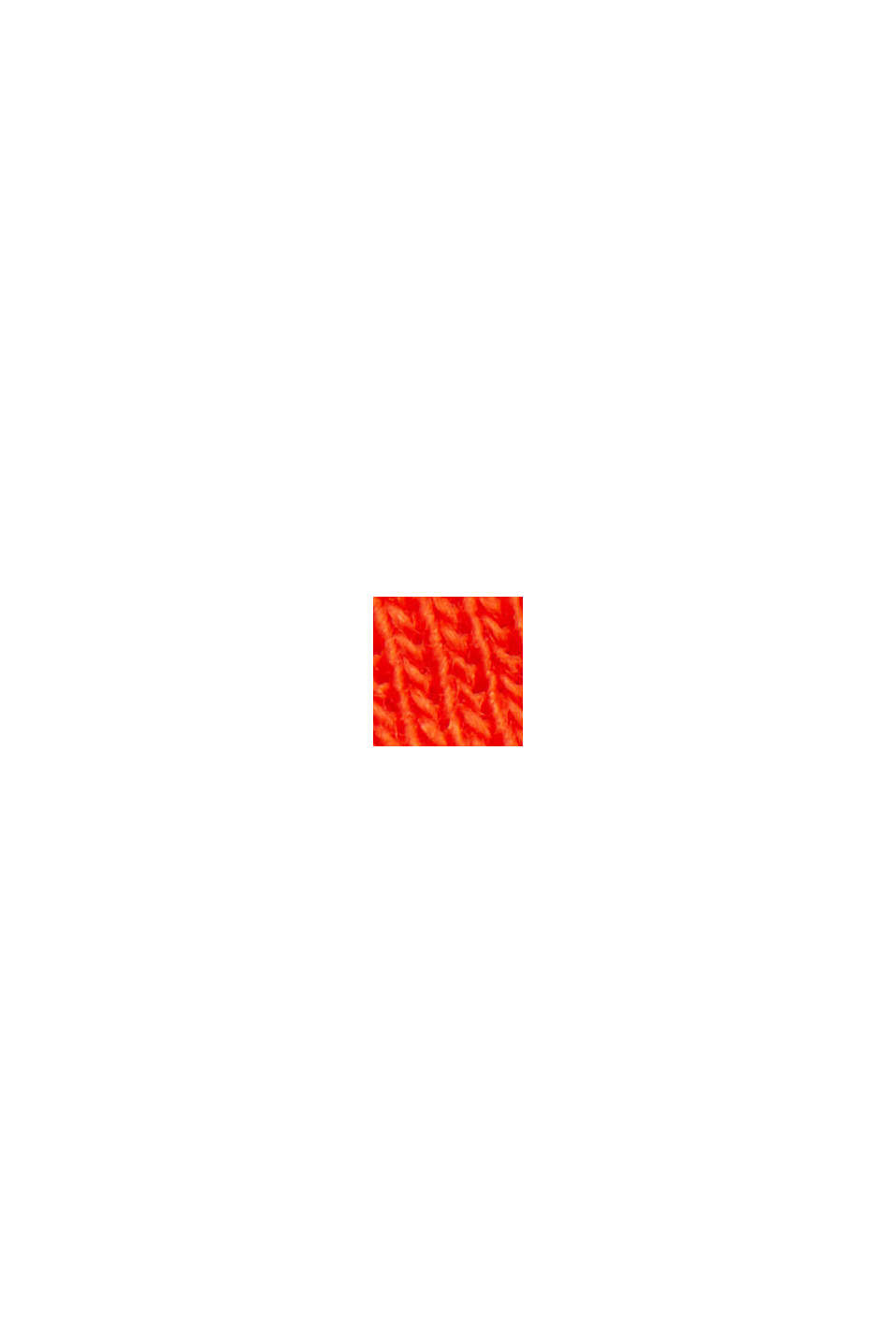 Basic T-shirt van 100% biologisch katoen, ORANGE RED, swatch
