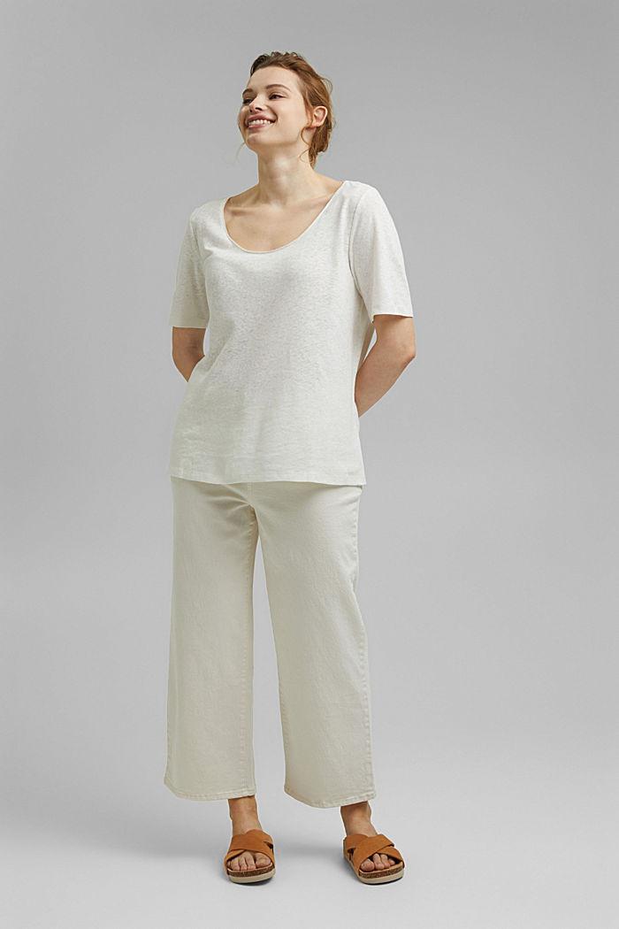 CURVY blended linen T-shirt