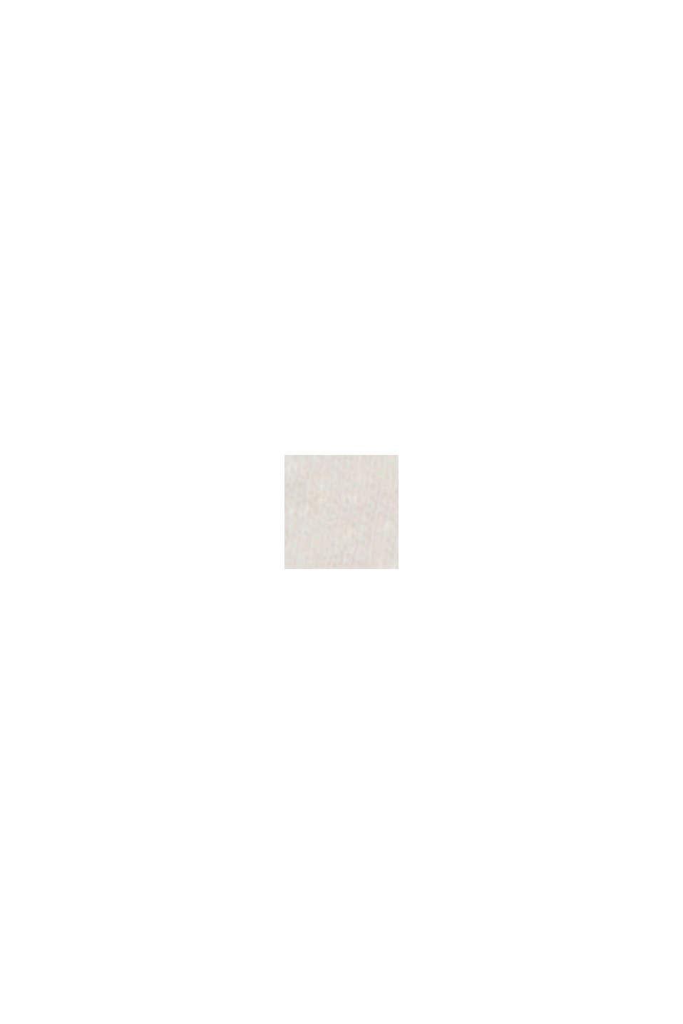 CURVY T-Shirt mit Leinen, OFF WHITE, swatch