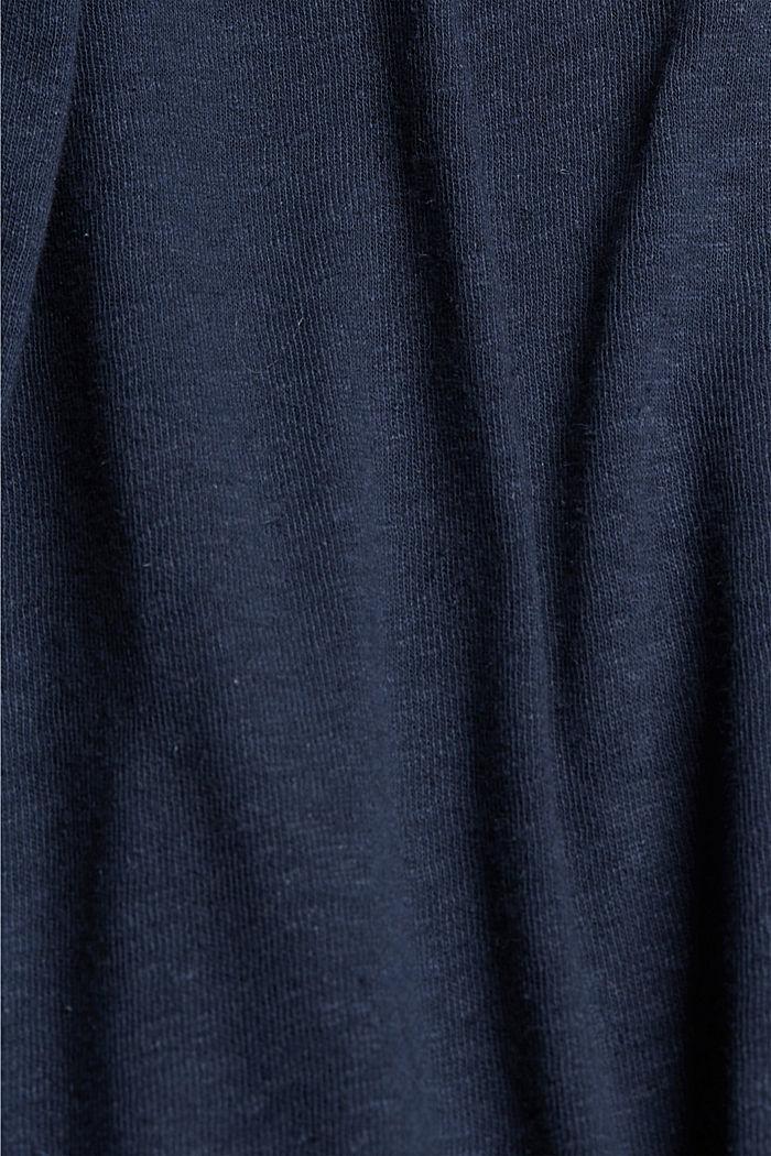 CURVY blended linen T-shirt, NAVY, detail image number 4