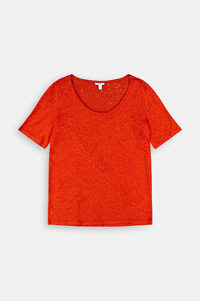 CURVY T-Shirt mit Leinen