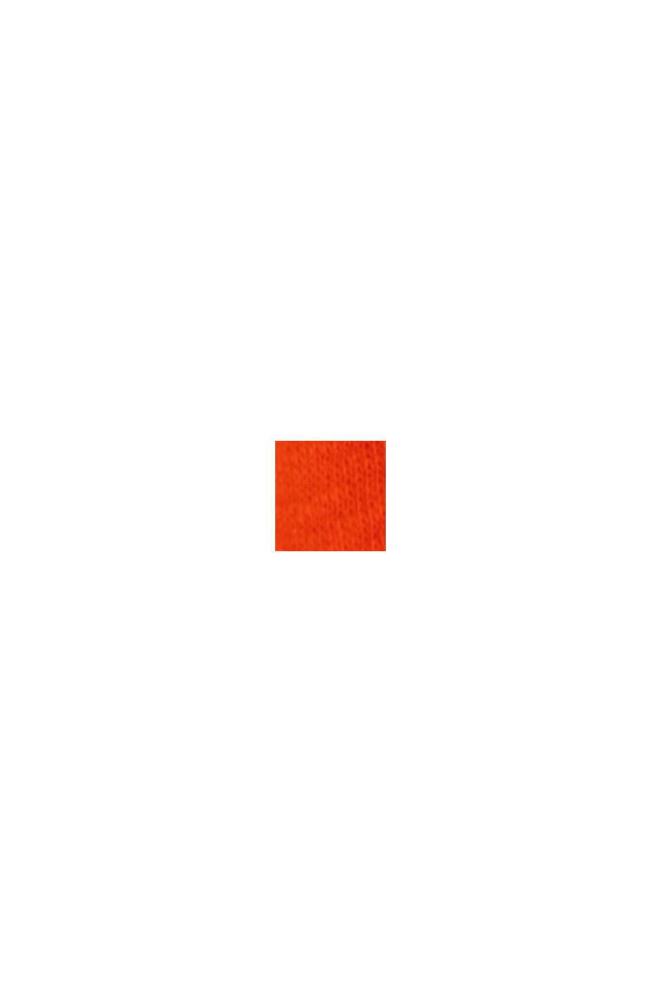 CURVY T-Shirt mit Leinen, ORANGE RED, swatch