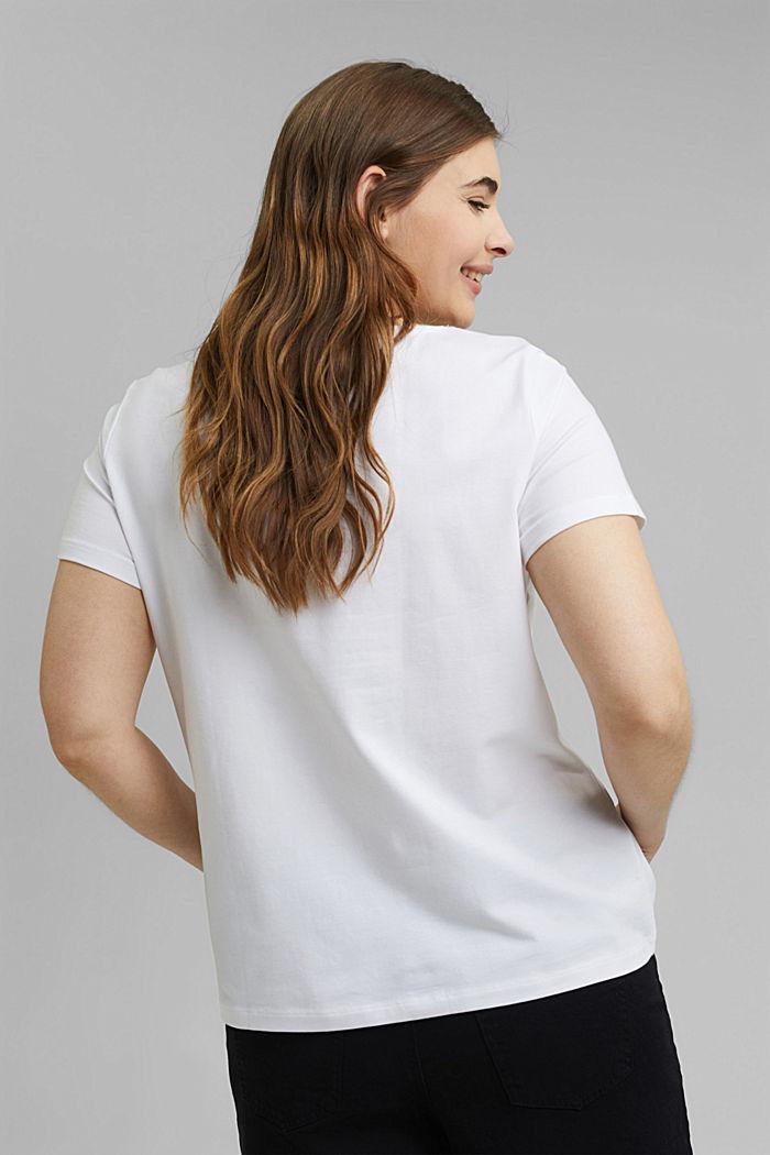 CURVY Basic-T-Shirt aus Organic Cotton, WHITE, detail image number 3
