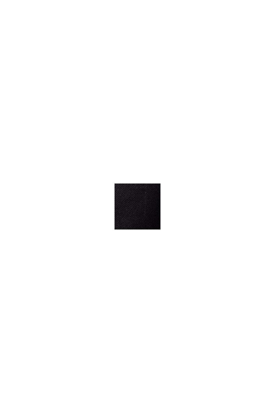 Top met kanten beleg, biologisch katoen, BLACK, swatch