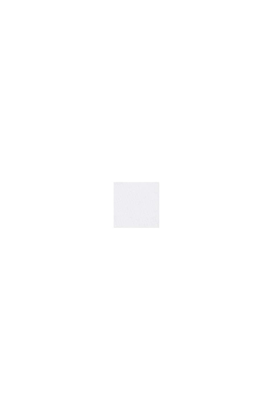 Top met kanten beleg, biologisch katoen, WHITE, swatch