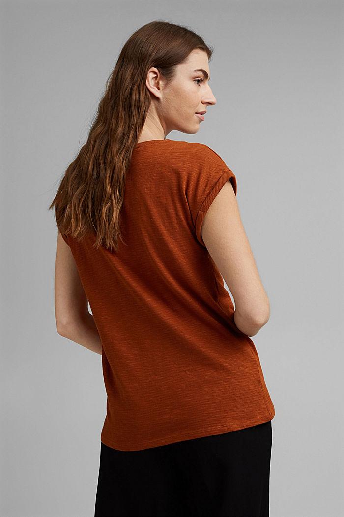 T-paita luomupuuvillasekoitetta, CARAMEL, detail image number 3