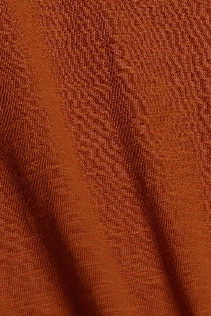 T-paita luomupuuvillasekoitetta, CARAMEL, detail image number 4