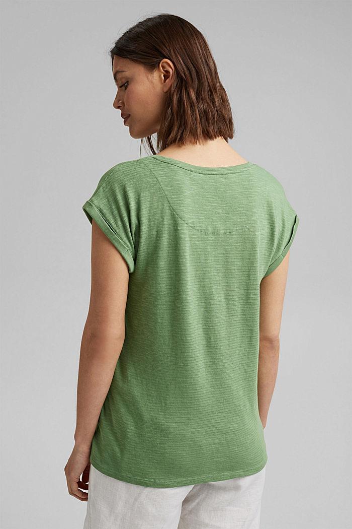 T-shirt van een mix met biologisch katoen, LEAF GREEN, detail image number 3