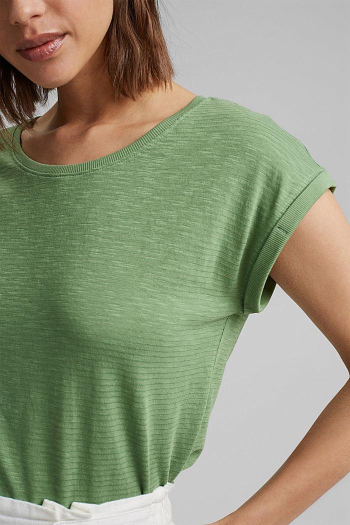 T-shirt van een mix met biologisch katoen, LEAF GREEN, detail image number 2