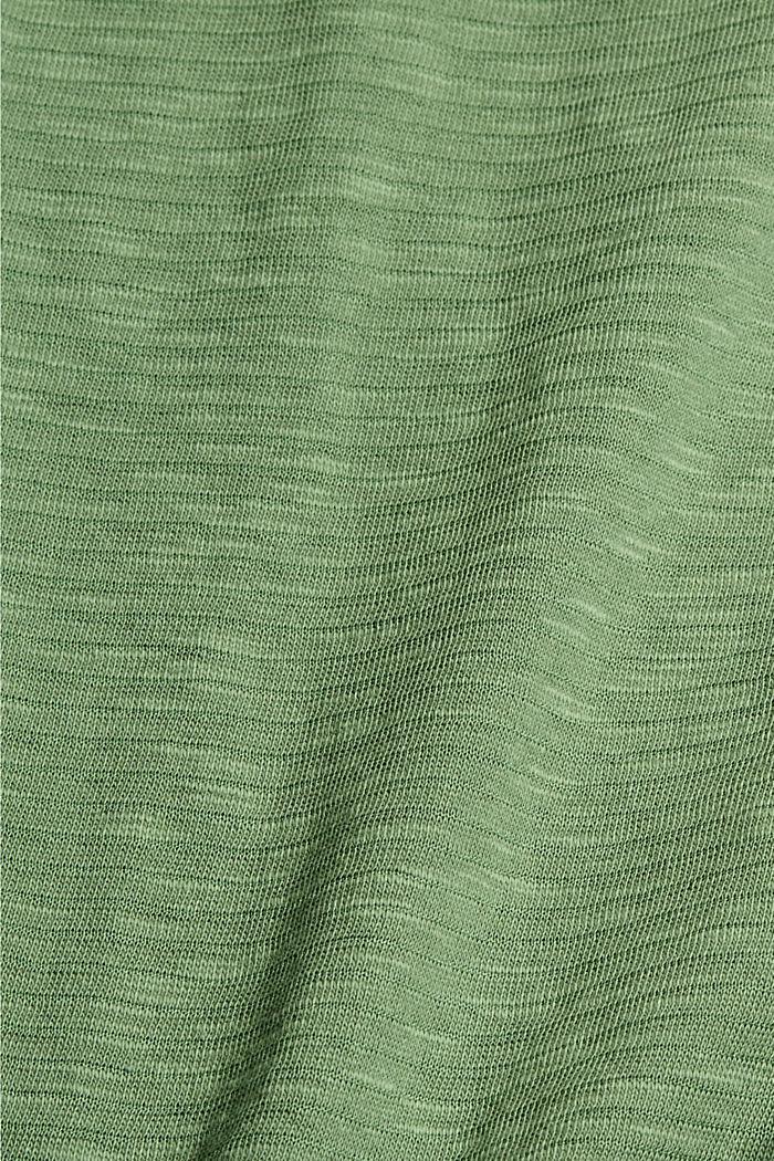 T-shirt van een mix met biologisch katoen, LEAF GREEN, detail image number 4