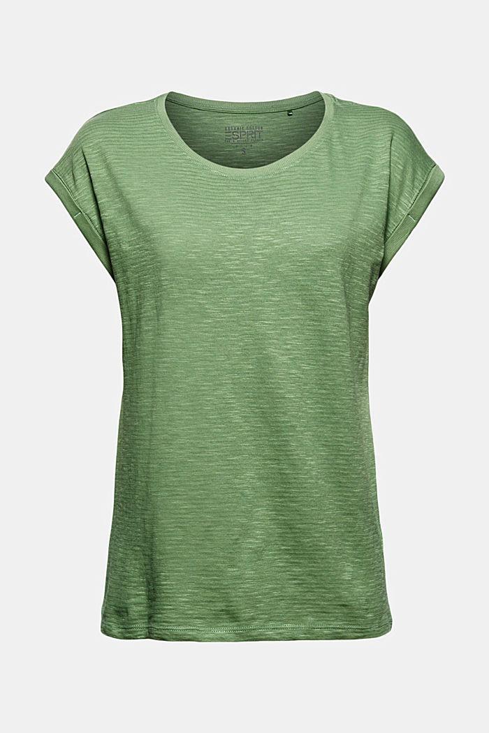 T-shirt van een mix met biologisch katoen, LEAF GREEN, detail image number 7
