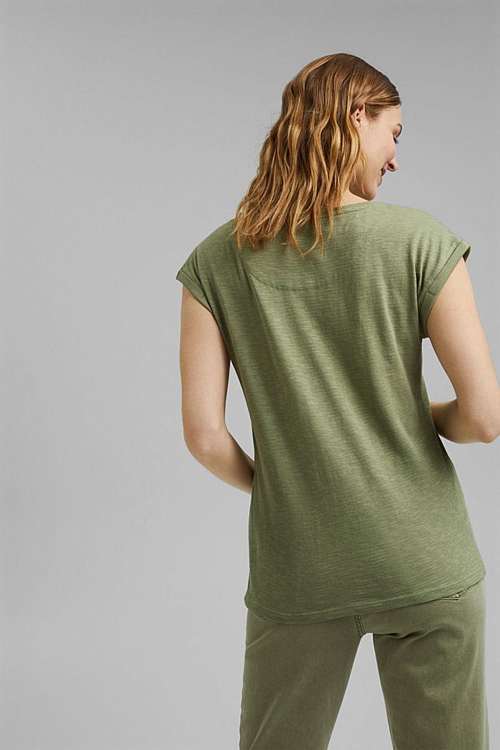 T-Shirt aus Bio-Baumwoll-Mix, LIGHT KHAKI, detail image number 3