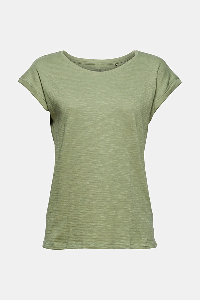 T-Shirt aus Bio-Baumwoll-Mix, LIGHT KHAKI, detail image number 6
