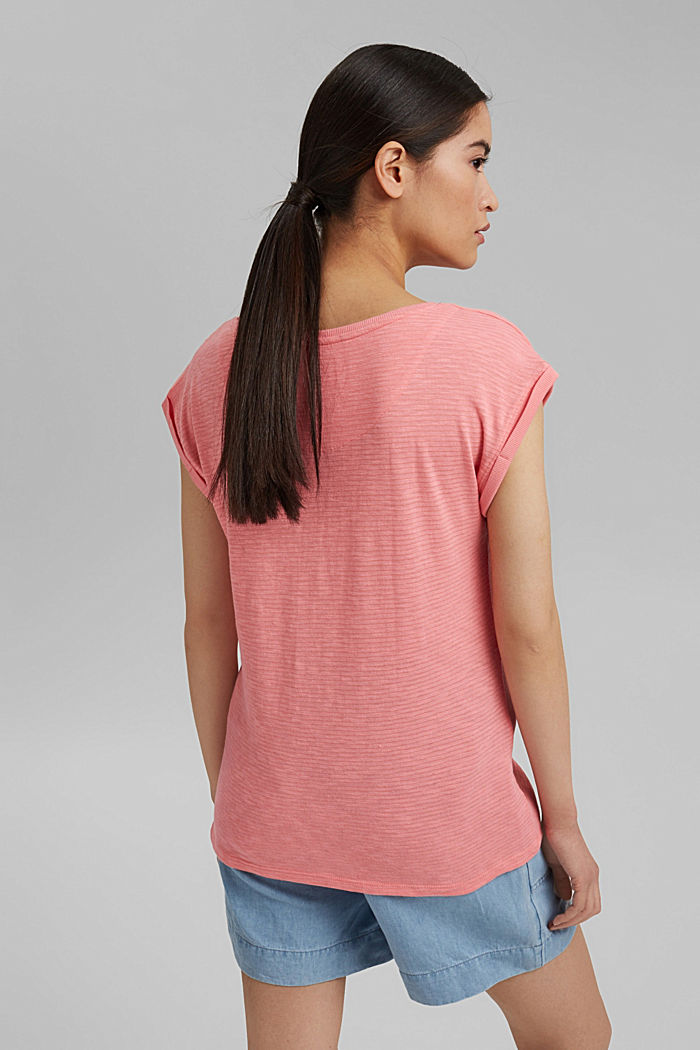 T-shirt made of an organic cotton blend, CORAL, detail image number 3