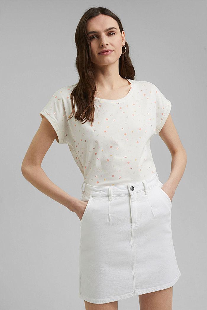 Print-Shirt aus 100% Organic Cotton, OFF WHITE, detail image number 0