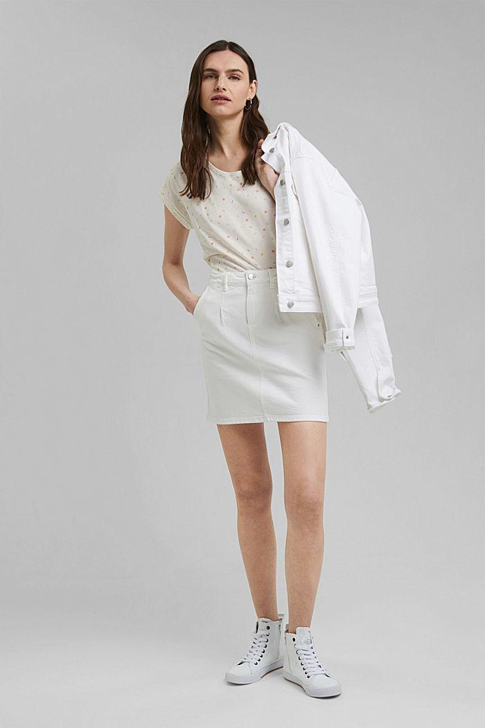 Print-Shirt aus 100% Organic Cotton, OFF WHITE, detail image number 1