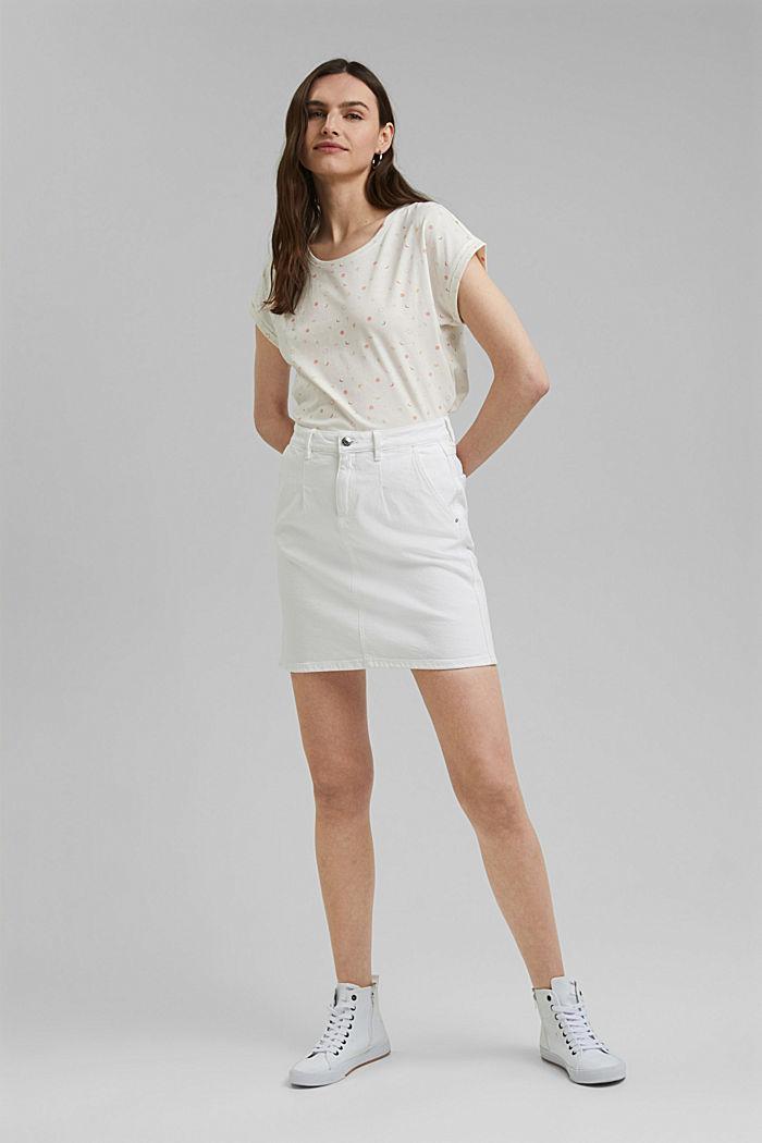 Print-Shirt aus 100% Organic Cotton, OFF WHITE, detail image number 7
