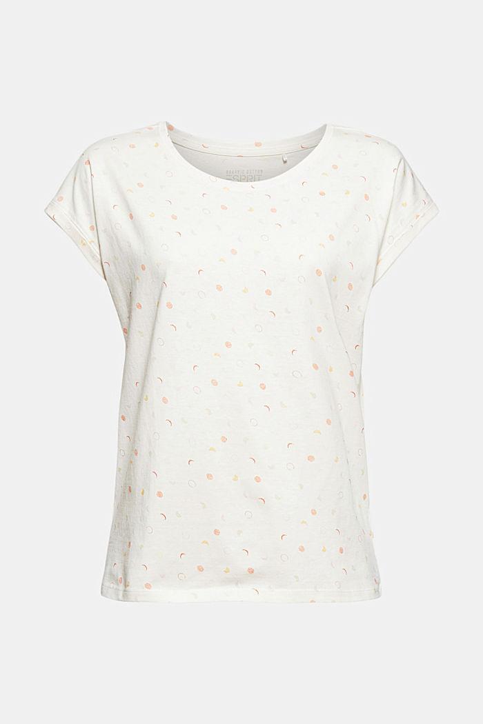 Print-Shirt aus 100% Organic Cotton, OFF WHITE, detail image number 8
