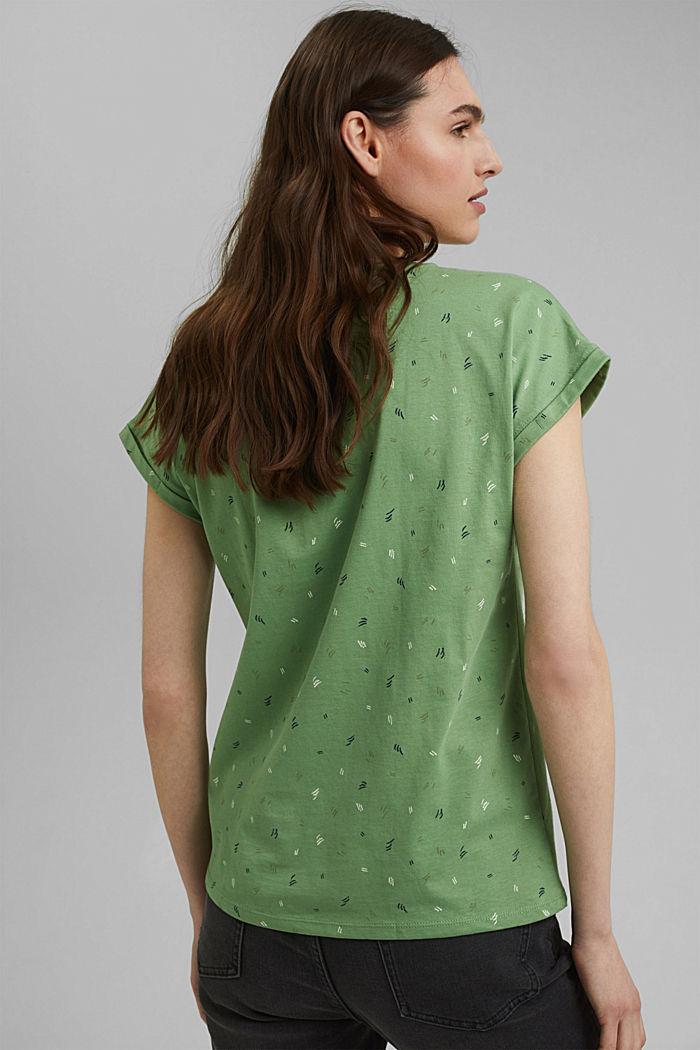 Print-Shirt aus 100% Organic Cotton, LEAF GREEN, detail image number 3