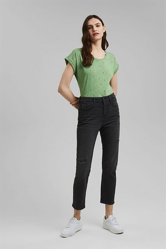 Print-Shirt aus 100% Organic Cotton, LEAF GREEN, detail image number 1