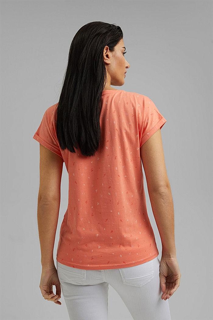 Print-Shirt aus 100% Organic Cotton, CORAL ORANGE, detail image number 3