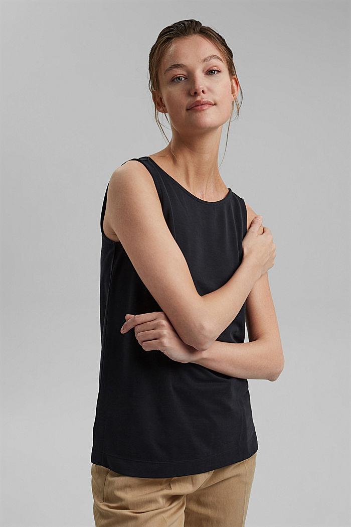 Blended modal sleeveless top, BLACK, detail image number 0