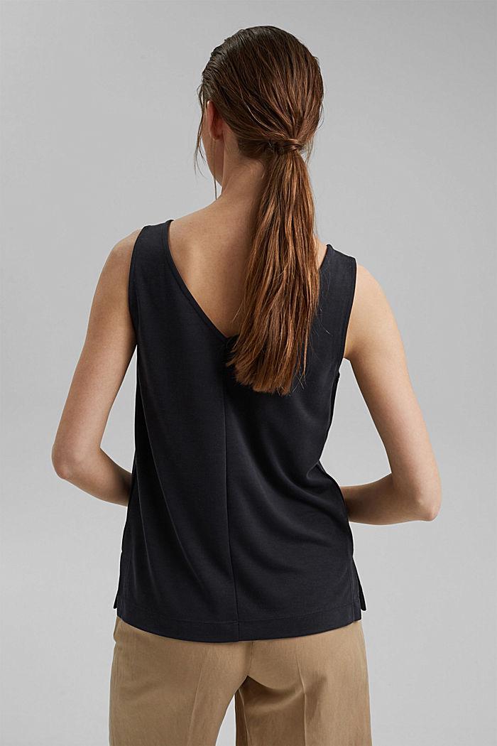Blended modal sleeveless top, BLACK, detail image number 3