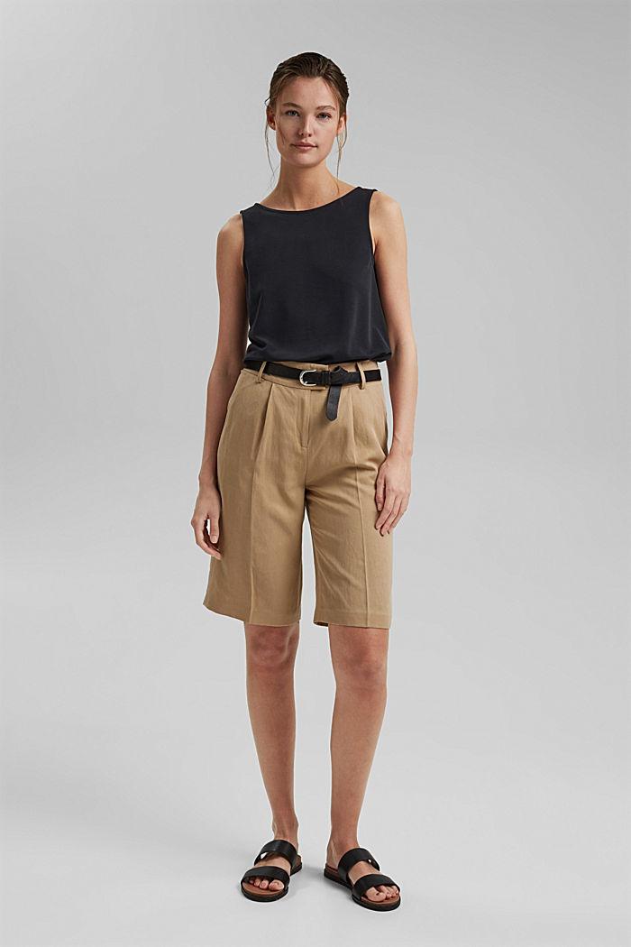 Blended modal sleeveless top, BLACK, detail image number 1