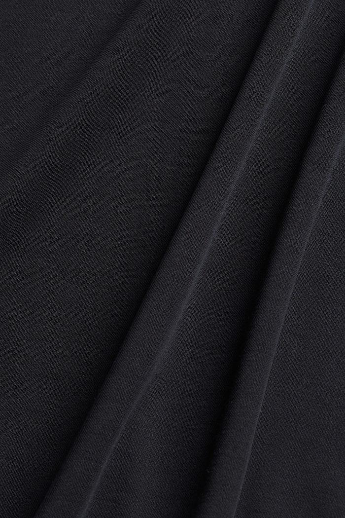 Blended modal sleeveless top, BLACK, detail image number 4