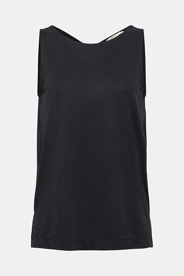 Met modal: mouwloos shirt