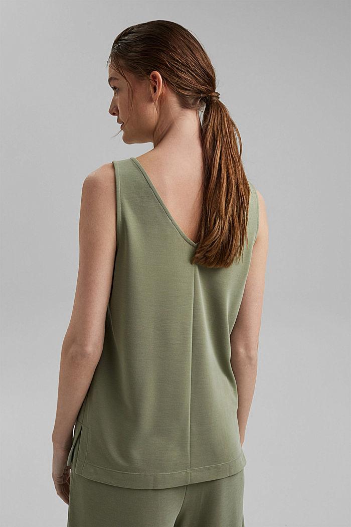 Blended modal sleeveless top, LIGHT KHAKI, detail image number 3
