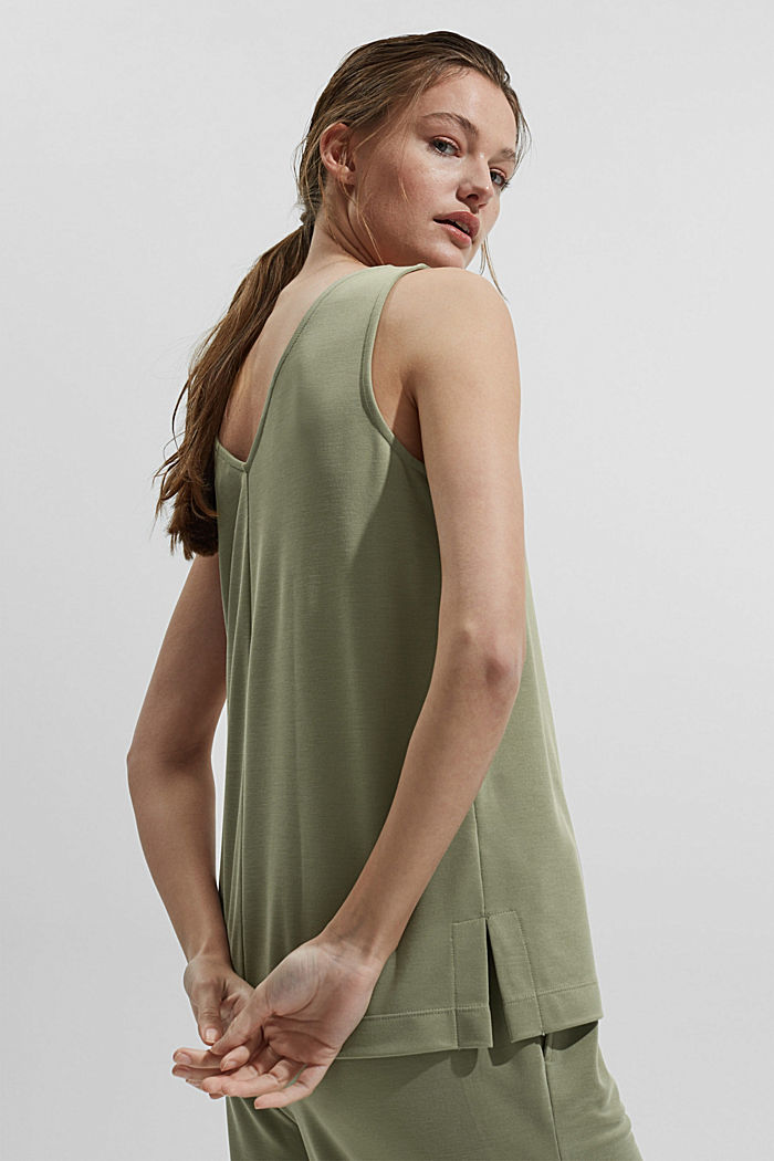 Mit Modal: ärmelloses Shirt