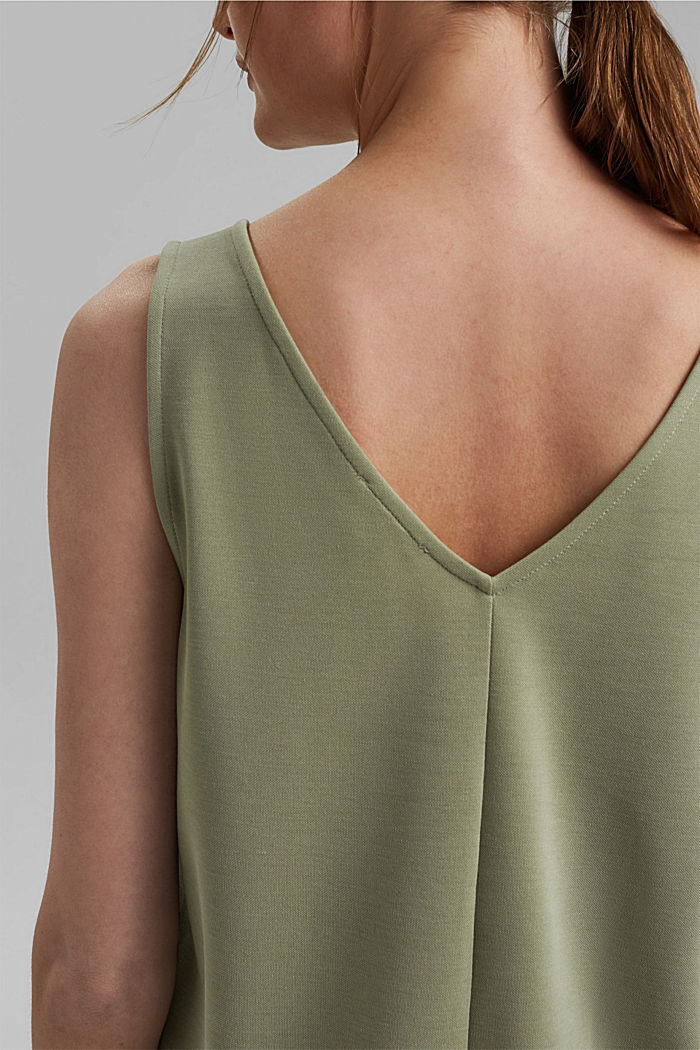 Blended modal sleeveless top, LIGHT KHAKI, detail image number 2