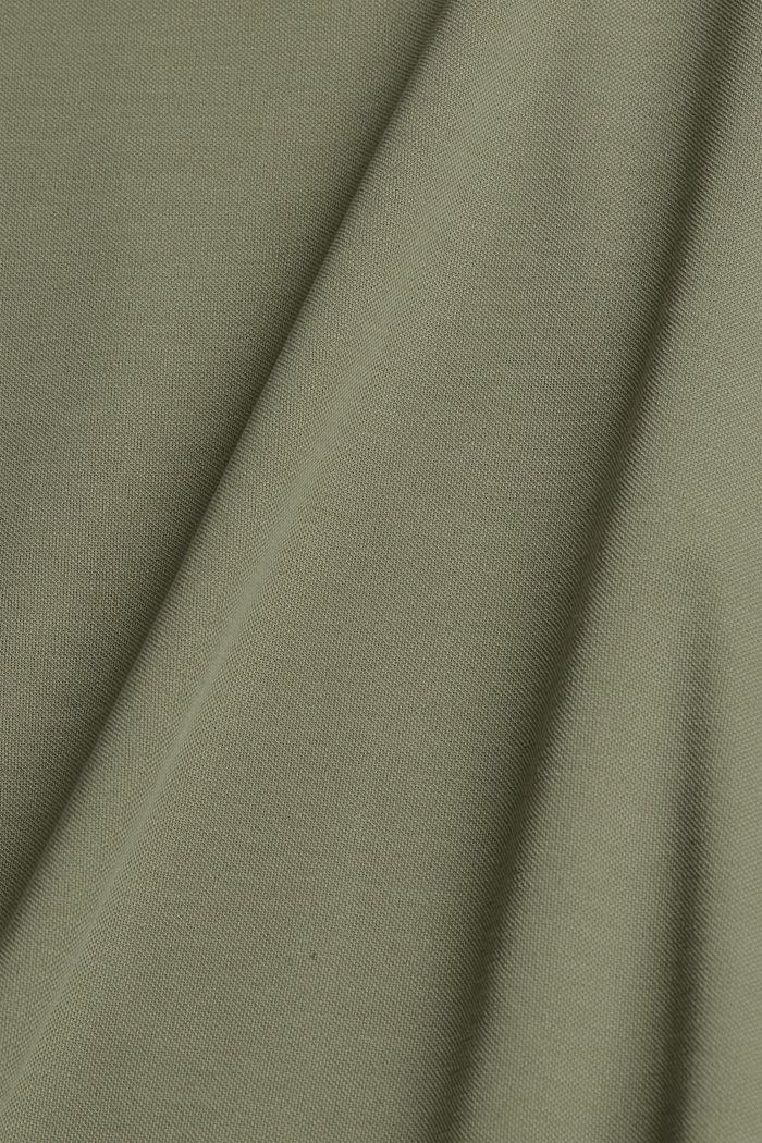 Blended modal sleeveless top, LIGHT KHAKI, detail image number 4