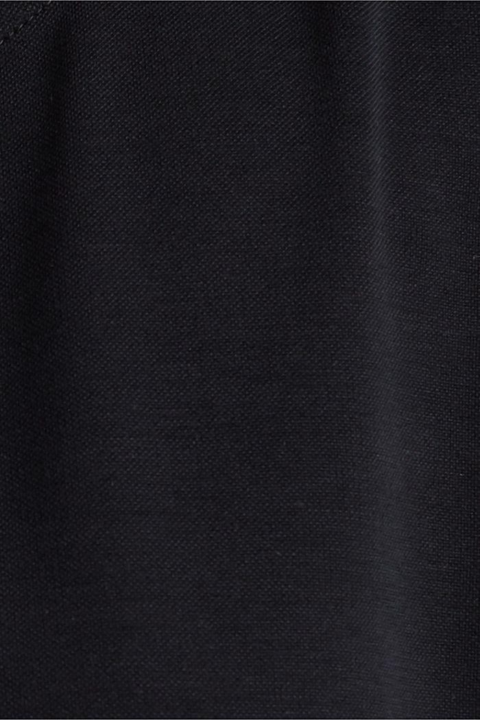Flowing T-shirt in blended modal, BLACK, detail image number 4