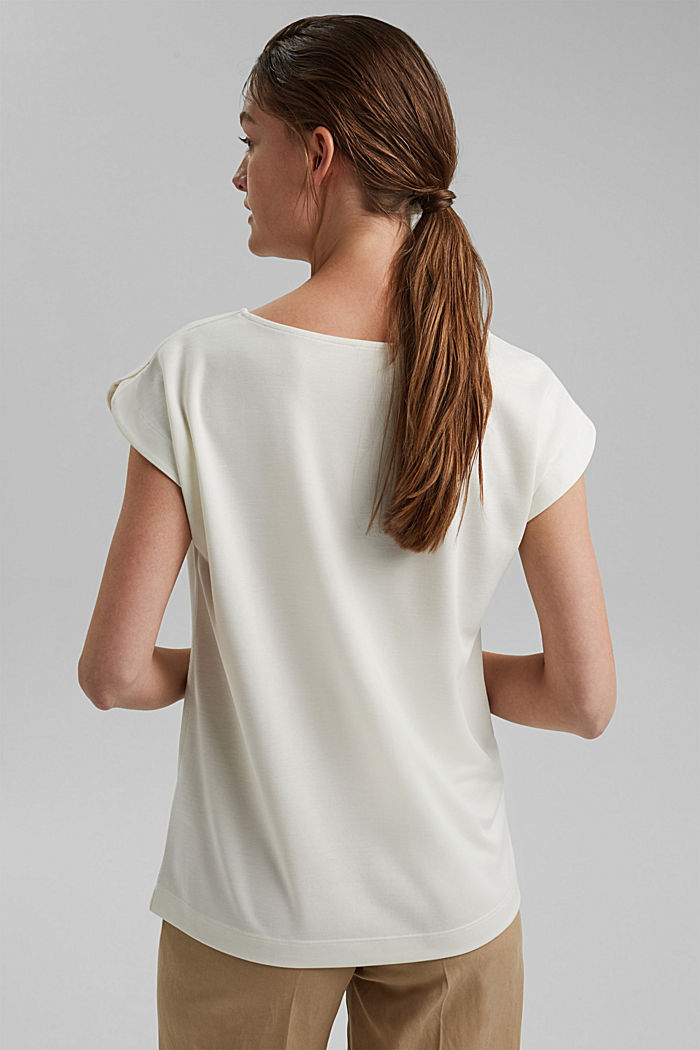 Aus Modal-Mix: fließendes T-Shirt, OFF WHITE, detail image number 3