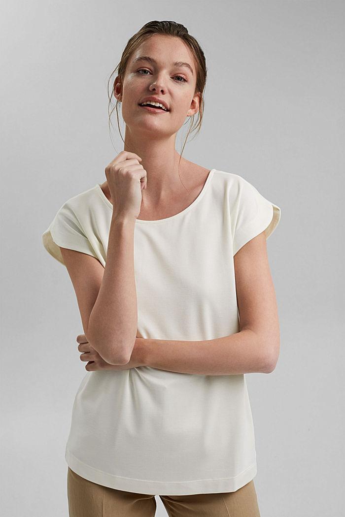 Aus Modal-Mix: fließendes T-Shirt, OFF WHITE, detail image number 5