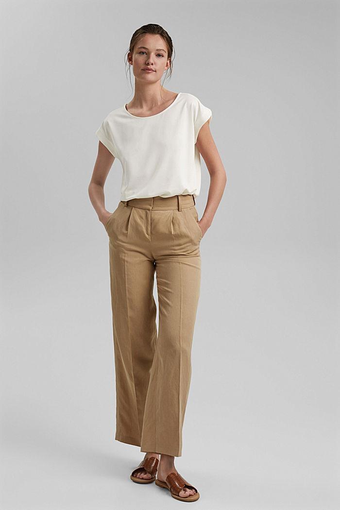 Aus Modal-Mix: fließendes T-Shirt, OFF WHITE, detail image number 1