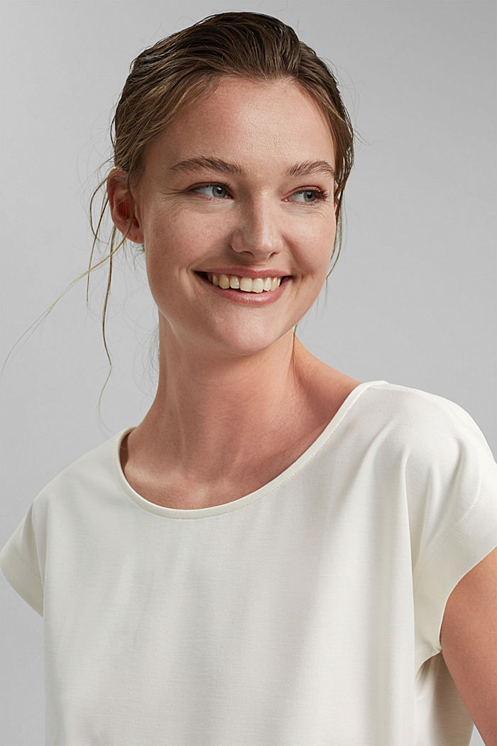 Aus Modal-Mix: fließendes T-Shirt, OFF WHITE, detail image number 6