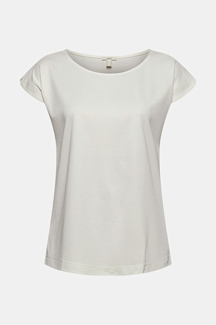 Aus Modal-Mix: fließendes T-Shirt, OFF WHITE, detail image number 7
